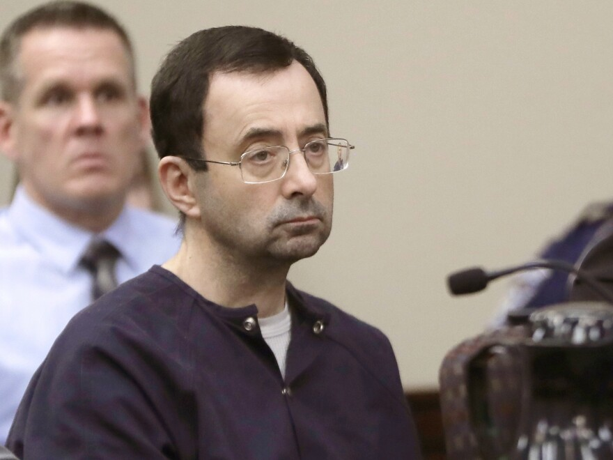 Meridian Township, Mich., has investigated why its police didn't pursue charges against Larry Nassar, seen in January 2018, when a young gymnast reported he had sexually assaulted her.