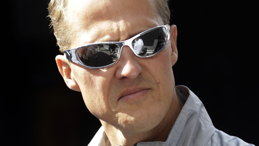 Seven-time Formula One champ Michael Schumacher, shown here in 2012, has been sent home after months in a Swiss hospital recovering from a serious head injury caused by a skiing accident.