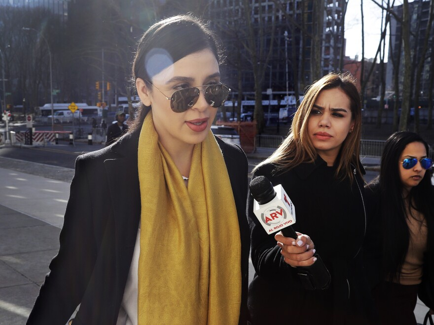 "Emma Coronel Aispuro (far left), wife of Joaquin ""El Chapo"" Guzman, is now facing several charges for her alleged involvement in the Sinaloa Cartel's drug trafficking as her husband sits in a U.S. prison."