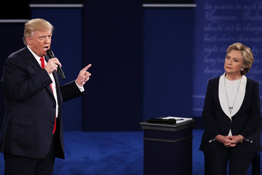 Republican presidential nominee Donald Trump and Democratic presidential nominee Hillary Clinton debated over health care Sunday night in St. Louis.