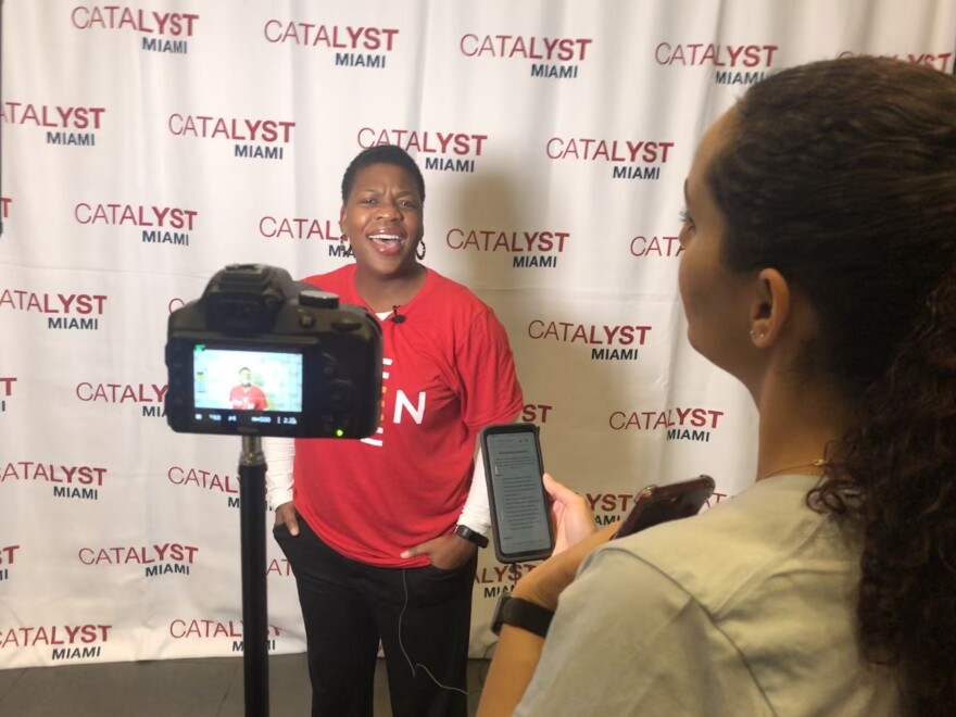 The community advocacy group Catalyst Miami is creating a collection of personal stories about the importance of oral health care. The group shot videos of people sharing their anecdotes during an oral health summit at Miami Dade College in Hialeah.