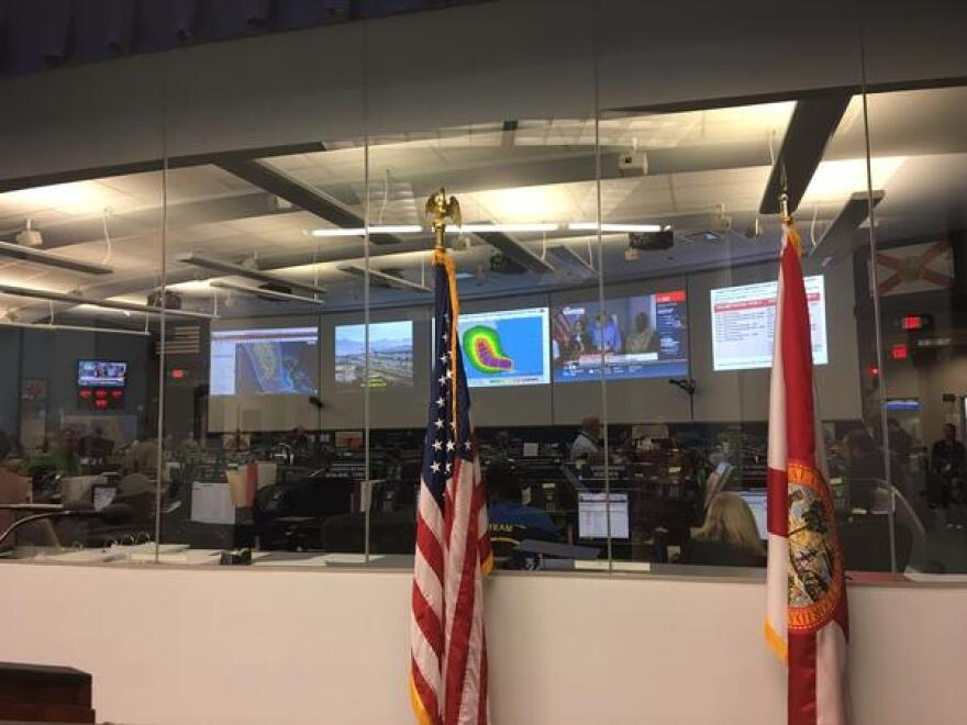 A reporter's view of state emergency operations in Tallahassee.