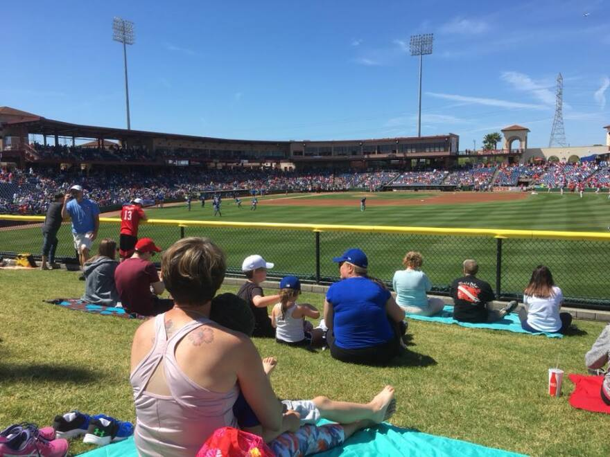 The bill would mean spring training sites, such as Spectrum Field in Clearwater, couldn't use money from tourist-development taxes and half-cent taxes on improvements. CREDIT: CARL LISCIANDRELLO/WUSF PUBLIC MEDIA