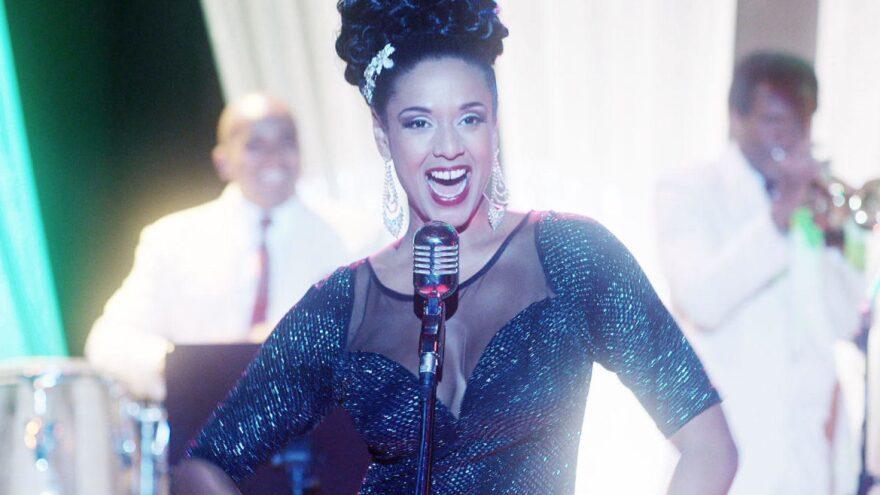 Jeimy Osorio as Celia Cruz in the telenovela <em>Celia. </em>