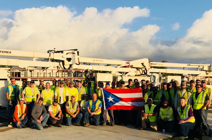 Texan volunteers in Puerto Rico.