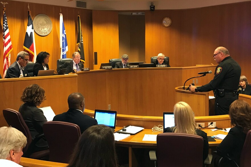 In this 2019 file photo, Tarrant County Sheriff Bill Waybourn addresses the county commissioners court ahead of a vote to extend the controversial 287(g) agreement with federal immigration authorities.