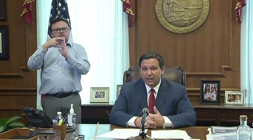 During a news conference, DeSantis said he will issue the executive order following a conversation with President Donald Trump and recommendations from the White House Task Force on COVID 19.