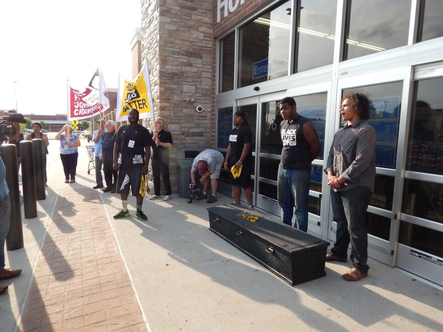 One year after John Crawford III was killed, demonstrators were locked out of the Beavercreek Walmart.