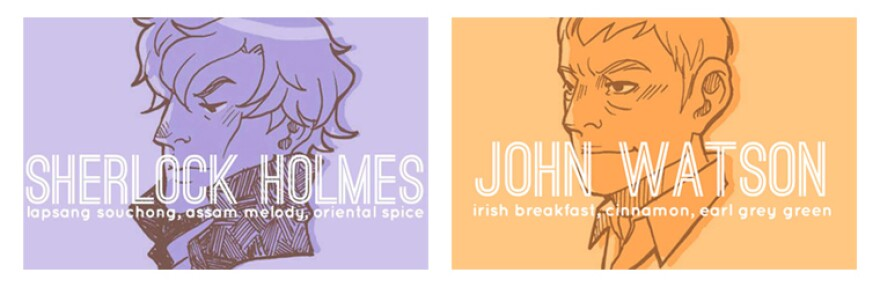 Two of McGee's teas inspired by the latest BBC incarnation of Sherlock Holmes and his trusty sidekick.