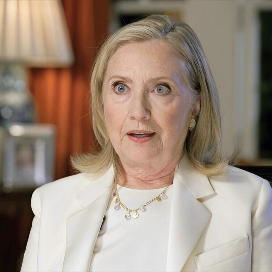 In this image from video, former Secretary of State Hillary Clinton speaks during the third night of the Democratic National Convention. She emphasized the importance of voting.