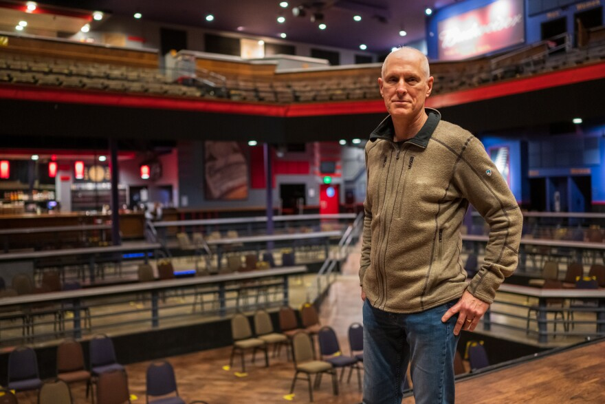 """Pat Hagin, managing partner of the Pageant in the Delmar Loop, said an upcoming federal grant program will be a """"lifeline"""" for the live music industry. But other professionals in the field are left out . [1/28/21]"""