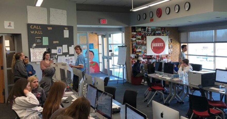 The Kirkwood Call newsroom at Kirkwood High School.