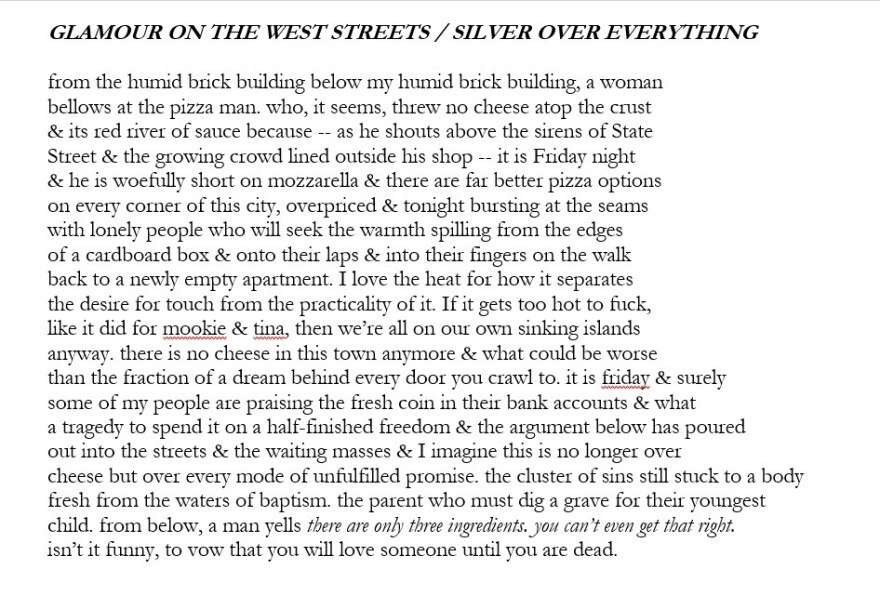 Glamour on the West Streets/Silver Over Everything, by Hanif Abdurraqib