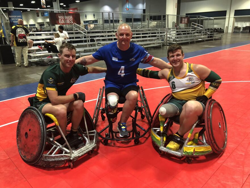 2019 Warrior Games participants, like these wheelchair basketball players, came to Tampa from six different countries.