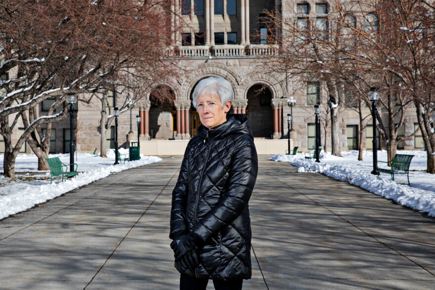 "Vicki Bennett, the sustainability director for Salt Lake City, says she's worried that a proposed state law might frustrate her efforts to encourage all-electric construction of new buildings. ""The thing that's just the elephant in the room is, every one of us is using natural gas, and that's a direct emission of carbon and adding to climate change issues,"" she says."
