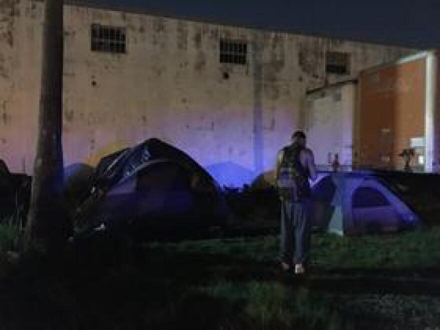Part of the encampment.