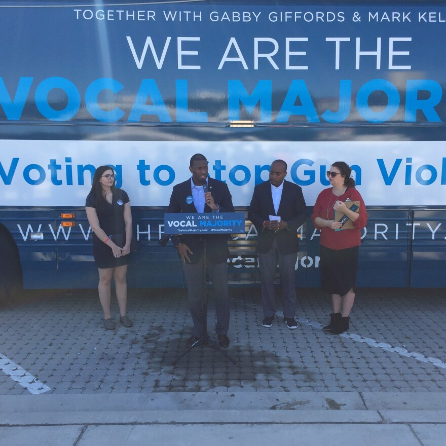 Mayor Gillum speaking as part of the Vocal Majority tour.