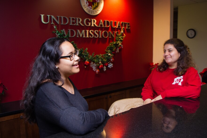 To help pay for college, Alejandra Gonzales worked at the admissions office at University of Maryland, College Park.