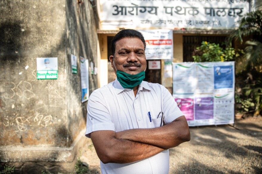 Dr. Umesh Dumpalwar is overseeing the vaccination program at Palghar Rural Hospital. He worries that rumors about the safety of the vaccine might keep people from participating.