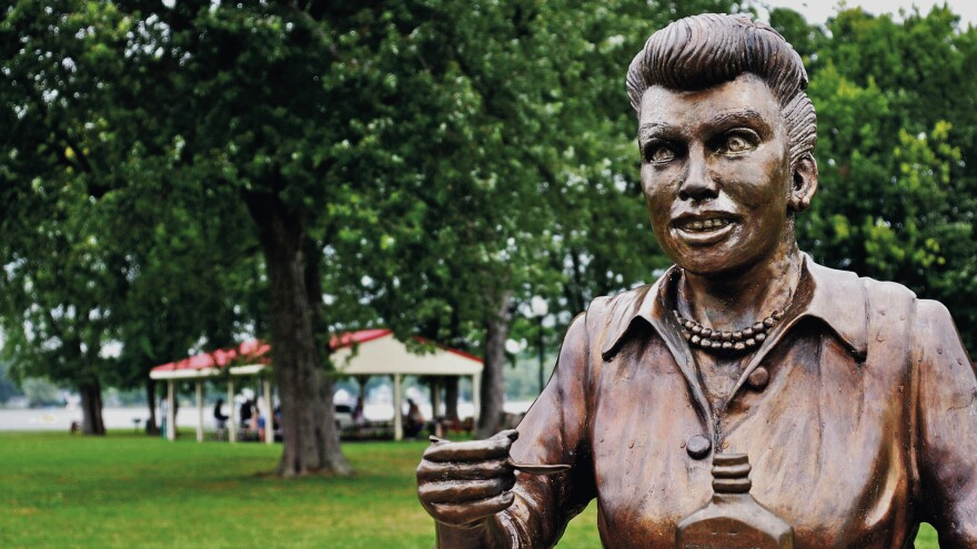 A bronze sculpture of Lucille Ball is displayed in her hometown of Celoron, N.Y. Since the sculpture was unveiled in 2009, it has been blasted by critics — and now there are plans to move it.