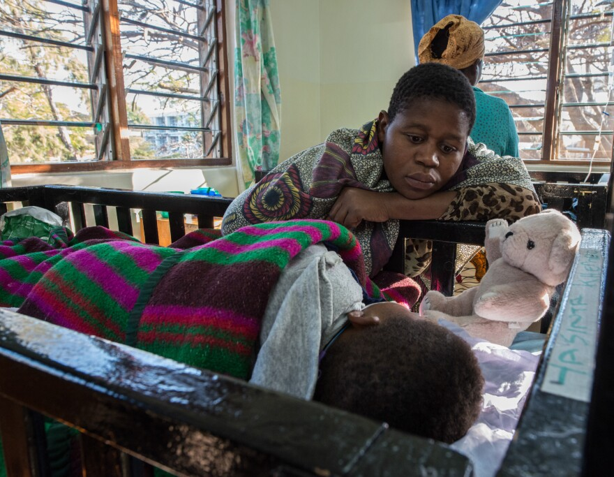 When malaria goes into the brain, it can quickly kill a child. Parents often say that their child had a fever for a few days and then suddenly went into a coma.