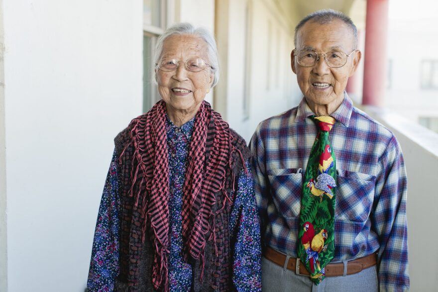 "A couple featured in ""Chinatown Pretty: Fashion and Wisdom from Chinatown's Most Stylish Seniors,"" by Andria Lo and Valerie Luu, published by Chronicle Books 2020. (Courtesy)"