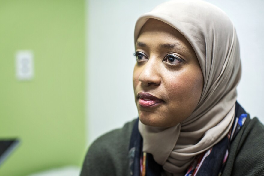 Dr. Sahar Abdelrahman, an internist and pediatrican at the UMMA clinic, was raised in Madison, Wisc., where she also studied medicine. Her parents were Sudanese immigrants — her father has a green card — and the proposed travel ban has been upsetting, she says.