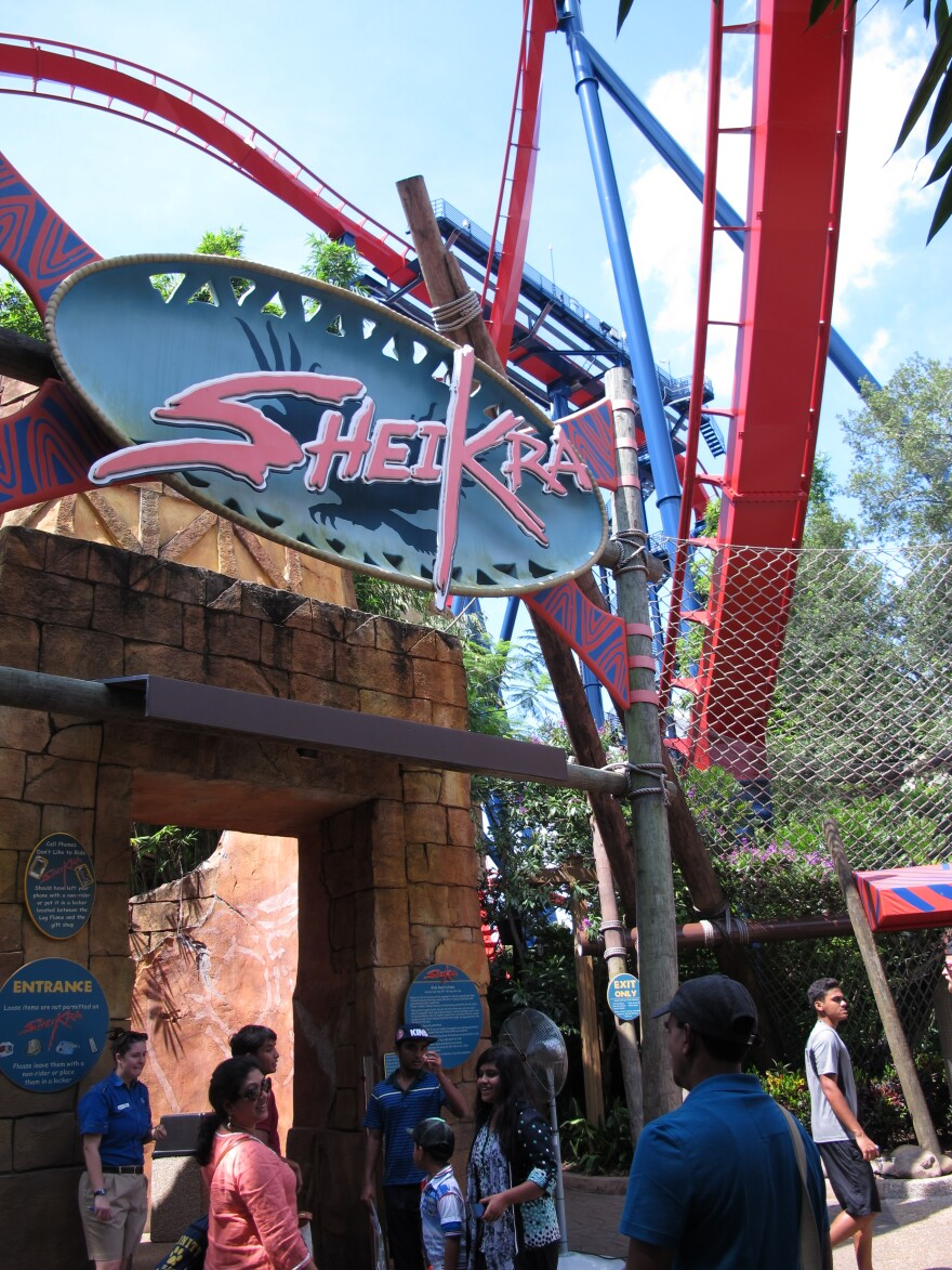 SheiKra at Busch Gardens Tampa features a 90-degree drop.