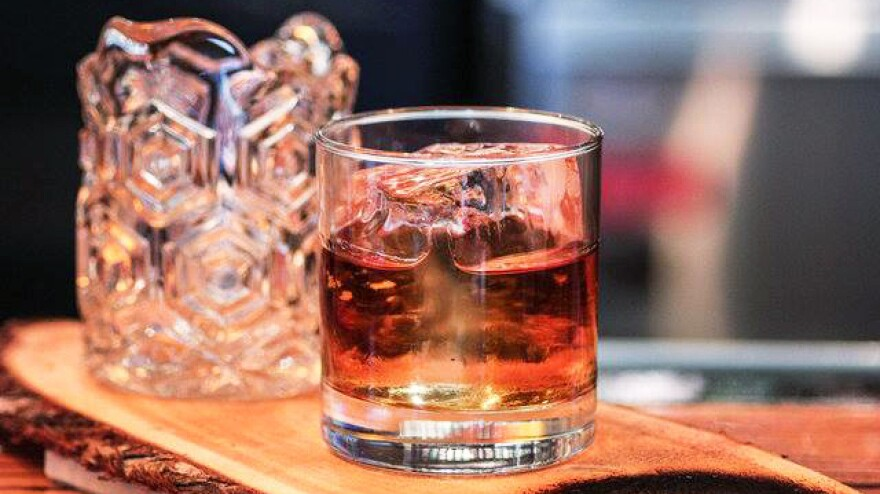 The Step-dad cocktail at Bar Charley in Washington, D.C., features house-made tobacco bitters.