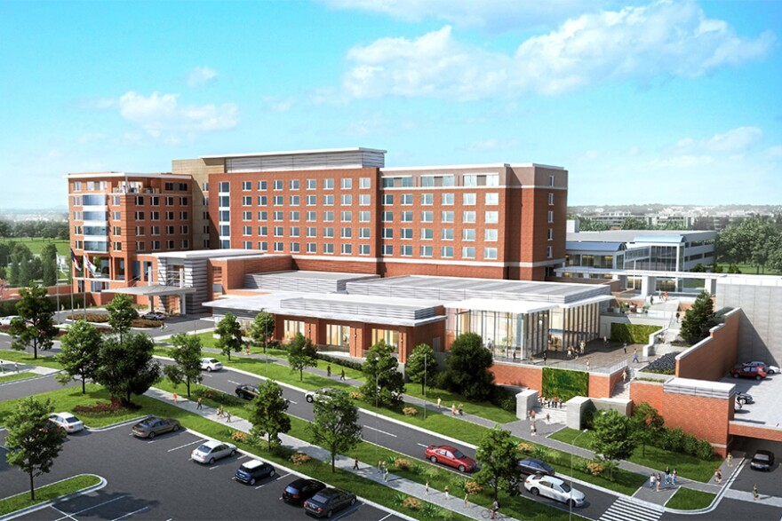 Rendering of the planned Marriott Hotel and Conference Center at UNC Charlotte.