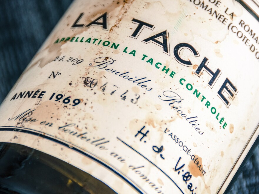 A 1969 bottle of Domaine de la Romanée-Conti. Last Christmas, thieves stole $300,000 worth of fine wines from famed Napa Valley restaurant the French Laundry. Most of it was Domaine de la Romanée-Conti.