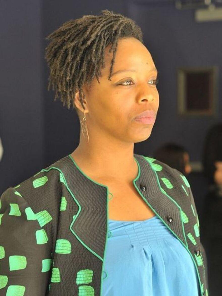 Patrisse Cullors, co-founder of #BlackLivesMatter.