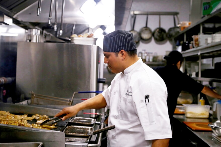 Alfonso Verdis came to the U.S. from Mexico at age 15, working his way from dishwasher to executive chef in an industry that relies heavily on immigrant labor. But his DACA status in the U.S. will soon expire.