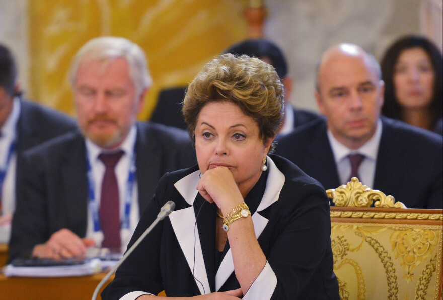 Brazilian President Dilma Rousseff attends the first working meeting of the G-20 summit in St. Petersburg, Russia, on Thursday.