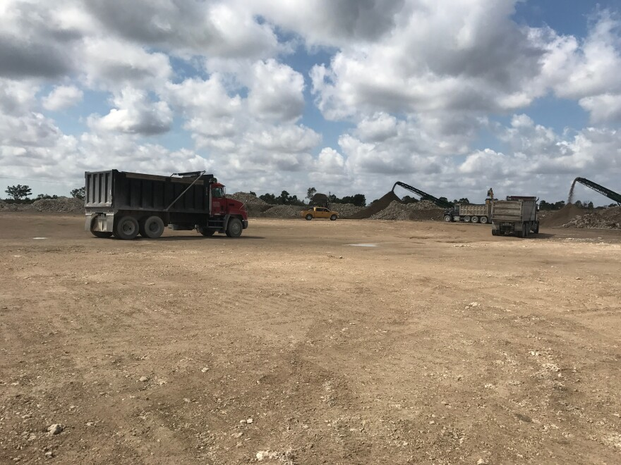 To cut costs and save time, the water management district is excavating and processing the soil and other materials for various project on its site southwest of Homestead.