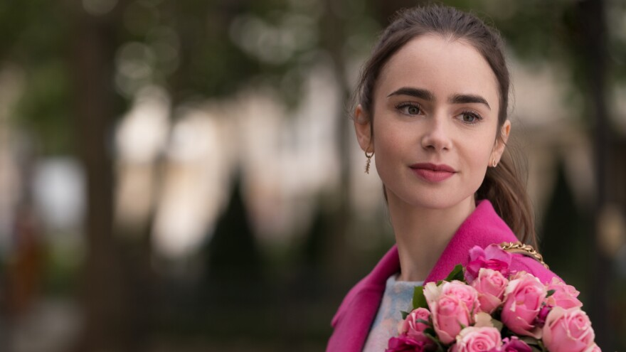 Lily Collins plays Emily in <em>Emily in Paris</em>.