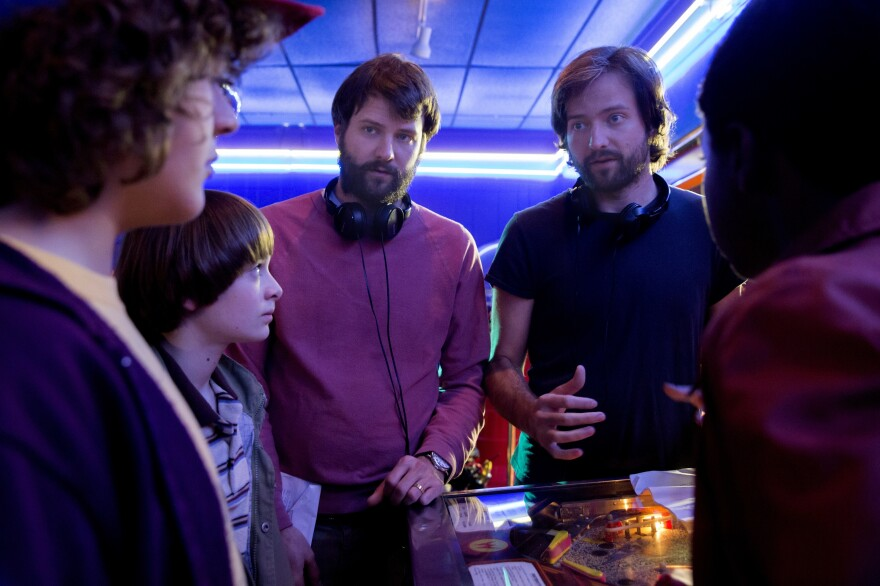 The Duffer brothers direct the young actors of <em>Stranger Things.</em>