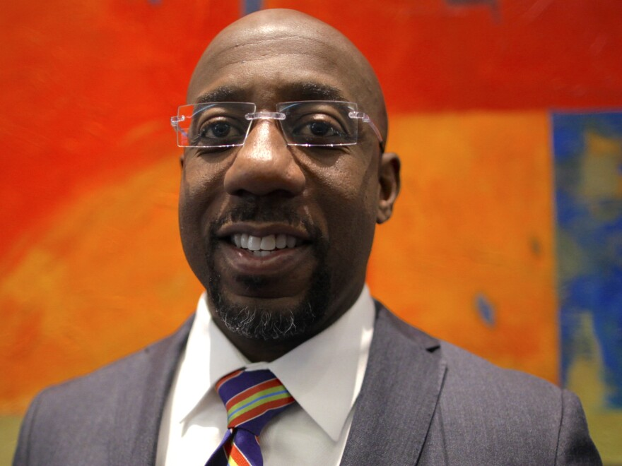 Rev. Raphael Warnock, senior pastor of the Ebenezer Baptist Church, pictured at a gathering last week of African-American clergy, academics and activists outside Washington D.C.