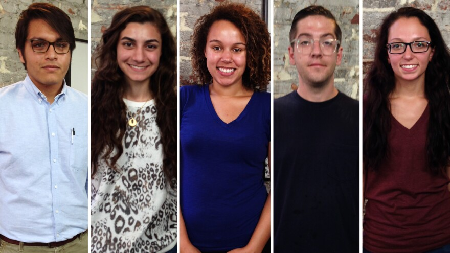 Millennial focus group: Arturo Chang (from left), Shaza Loutfi, Alexa Graziolli, Stephen Crouch, Jessica Ramser. Not pictured: Ginger Gibson.
