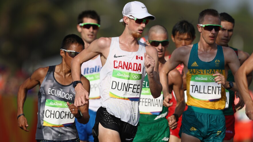 Evan Dunfee of Canada refused to use the final appeal of his fourth-place finish in the men's 50km race walk, citing his own integrity.