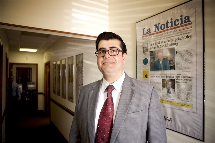 Diego Fernando Barahona Andrade is the editor of <em>La Noticia, </em>North Carolina's oldest Spanish-language newspaper.<em> </em>