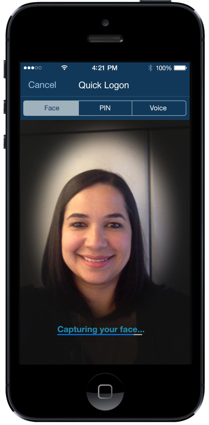 USAA uses biometrics to authenticate its account holders.