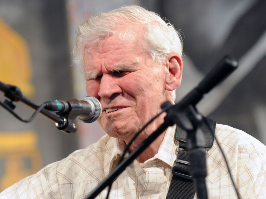 Doc Watson performs at the 2009 New Orleans Jazz & Heritage Festival on May 1, 2009.