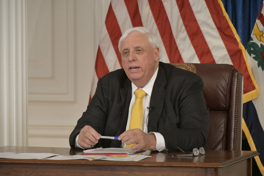 Gov. Jim Justice gives an update to the public regarding West Virginia's continued response to the coronavirus on Thursday, May 21, 2020.