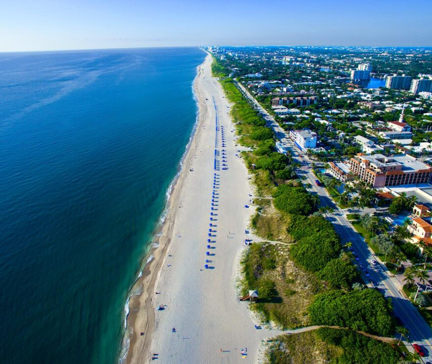 aerial view delray beach