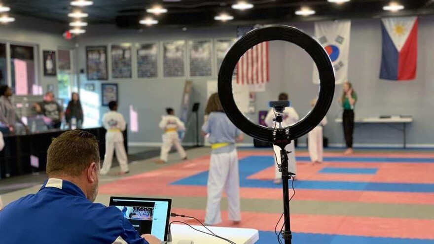 All-Star Martial Arts in Jacksonville is sterilizing the facility and adding extra hand santizing stations for students to use.