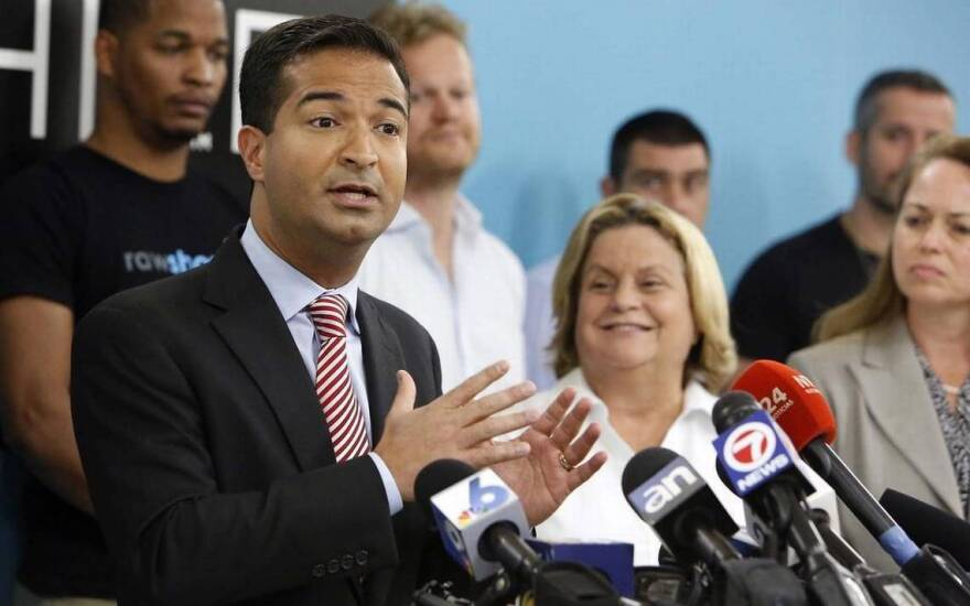 Miami Republican Reps. Carlos Curbelo and Ileana Ros-Lehtinen are being targeted in a new ad campaign by a national teachers union.