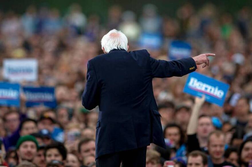 Democratic presidential candidate Sen. Bernie Sanders, I-Vt., speaks during a campaign event on Sunday, Feb. 23, 2020, in Austin, Texas.