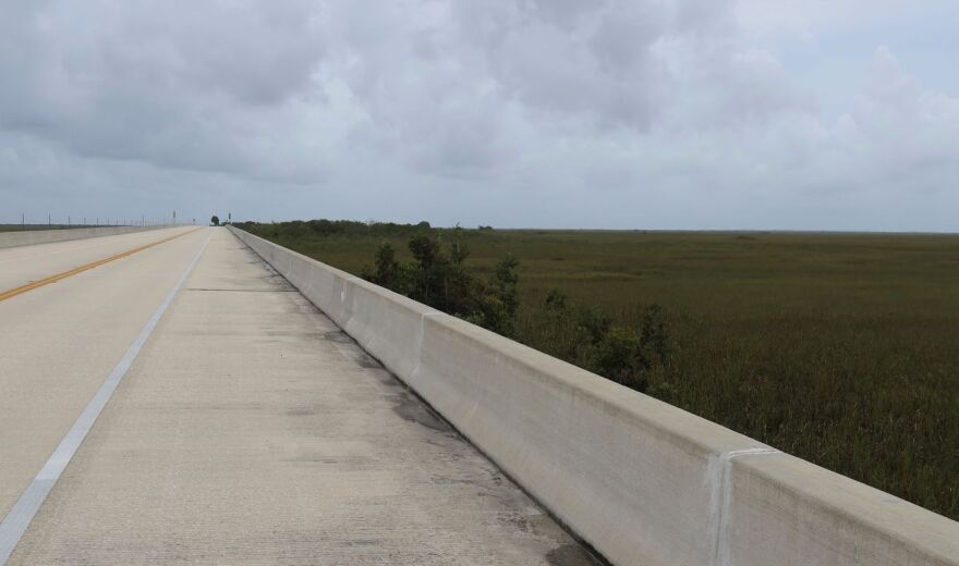 Newly bridged portion of Tamiami Trail