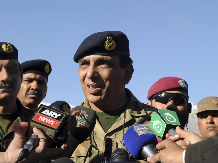 Pakistan's army chief, Gen. Ashfaq Kayani, talks to media in northern Pakistan last year.